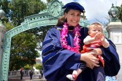 Zoe Chafe with baby graduation 2015