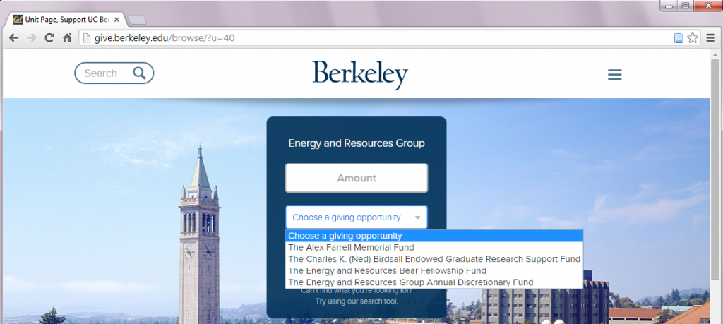 Give to ERG Cal Website