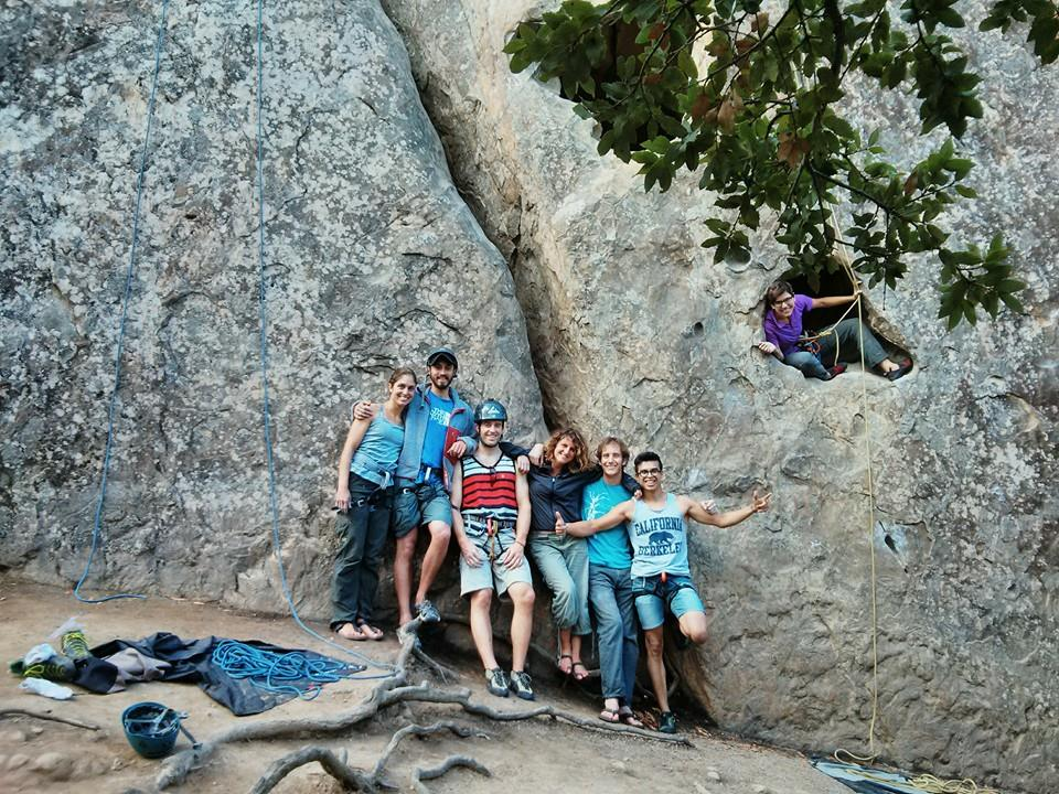 Froy with ERG climing group