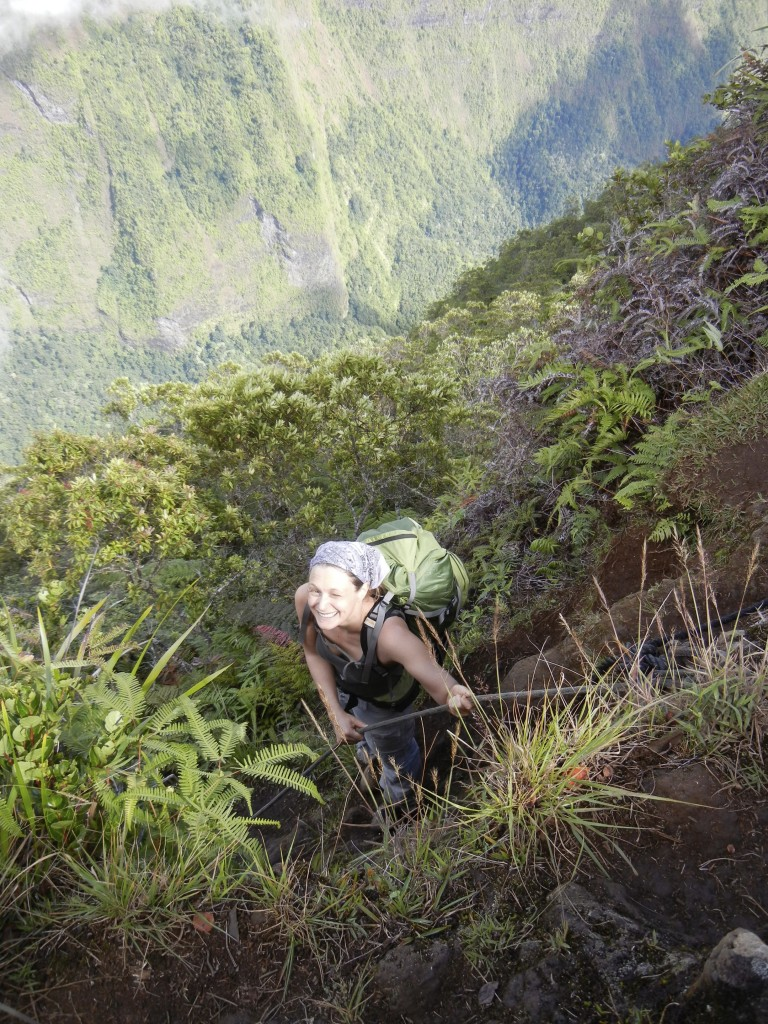 Climbing Mount Aorai on Tahiti