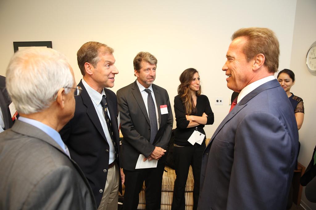 Dan Kammen with Gov Schwarzenegger