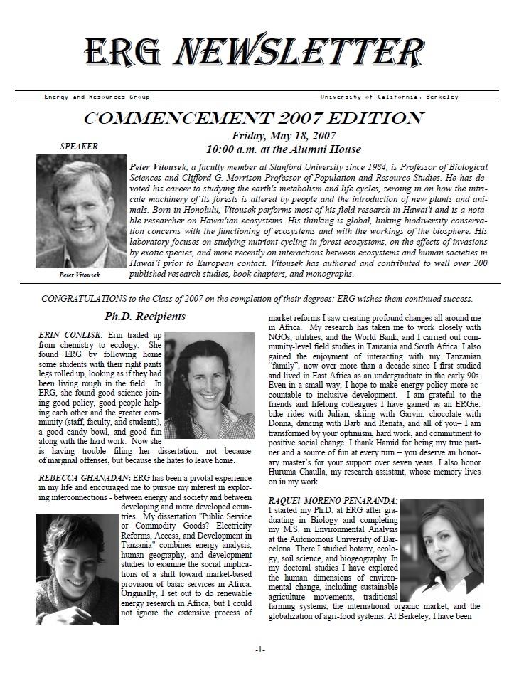 ERG Newsletter 2007 (thumbnail)