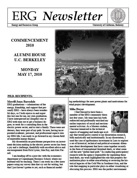 ERG Newsletter 2010 (thumbnail)