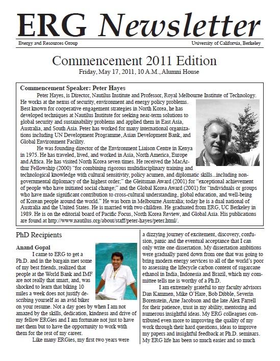 ERG Newsletter 2011 (thumbnail)