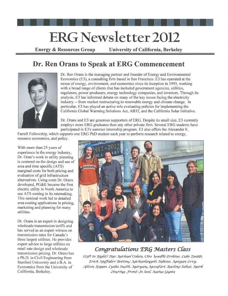 ERG Newsletter 2012