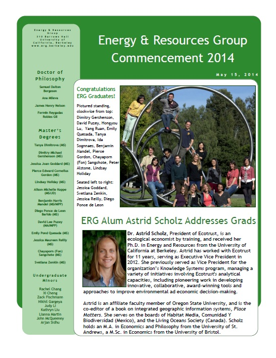 ERG Newsletter 2014 (thumbnail)