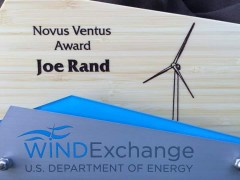 Rand Receives DOE Award for Wind Advocacy