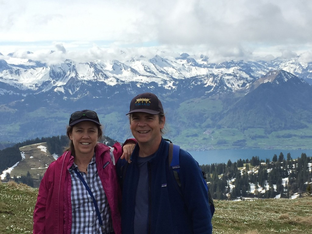 Margaret and Jim in Alps