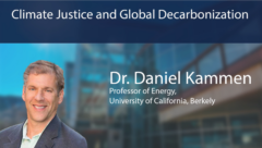 "ERG Dan Kammen Presents ""Climate Justice and Global Decarbonization"""